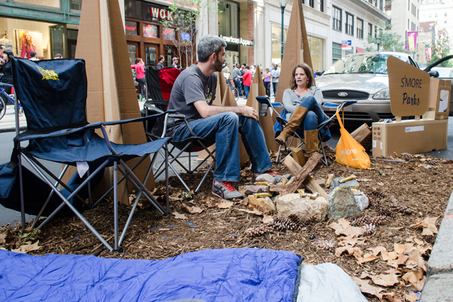PARK(ing) Day 2012 in Philadelphia. Image: Dominic Mercier